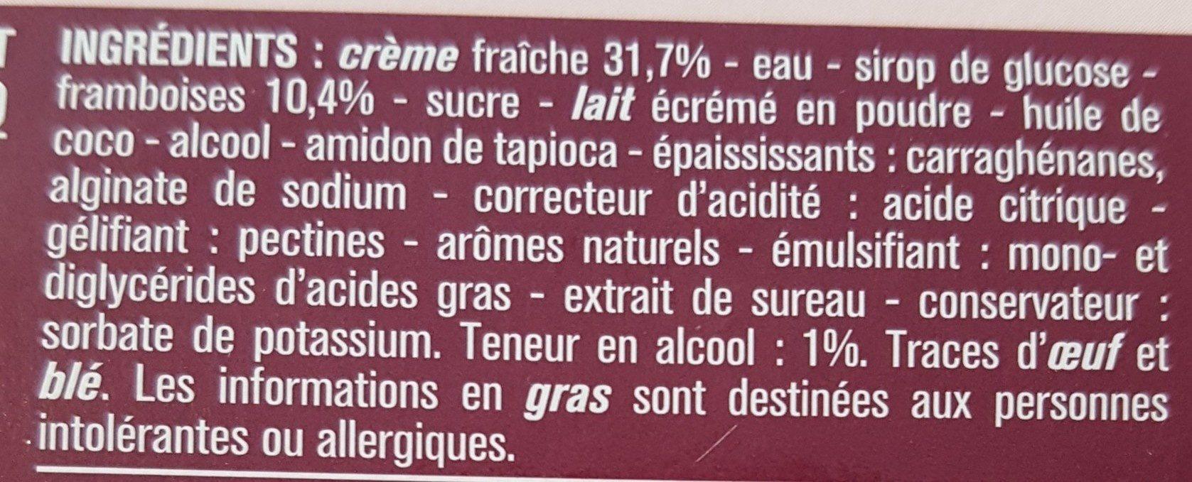 Panna Cotta coulis framboise - Ingredients - fr