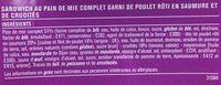 Giga poulet roti crudités - Ingrédients - fr