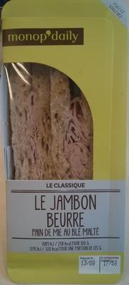 Sandwich au jambon cuit supérieur et au beurre - Produit - fr