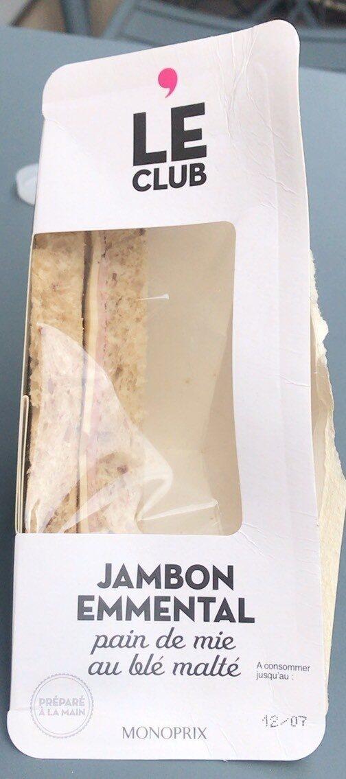 Le club - Jambon emmental et pain de mie au blé malté - Produit - fr