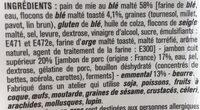 Le jambon emmental - Ingrédients - fr