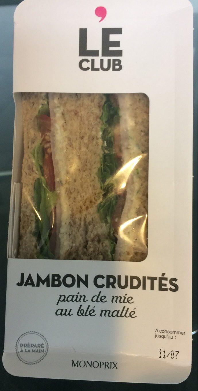 Sandwich Jambon Crudité - Produit - fr