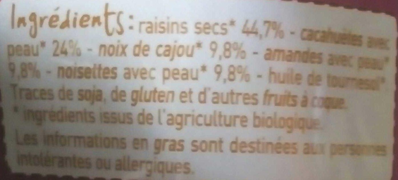 Mix Apéro - graines grillées et raisins secs - Ingrediënten - fr