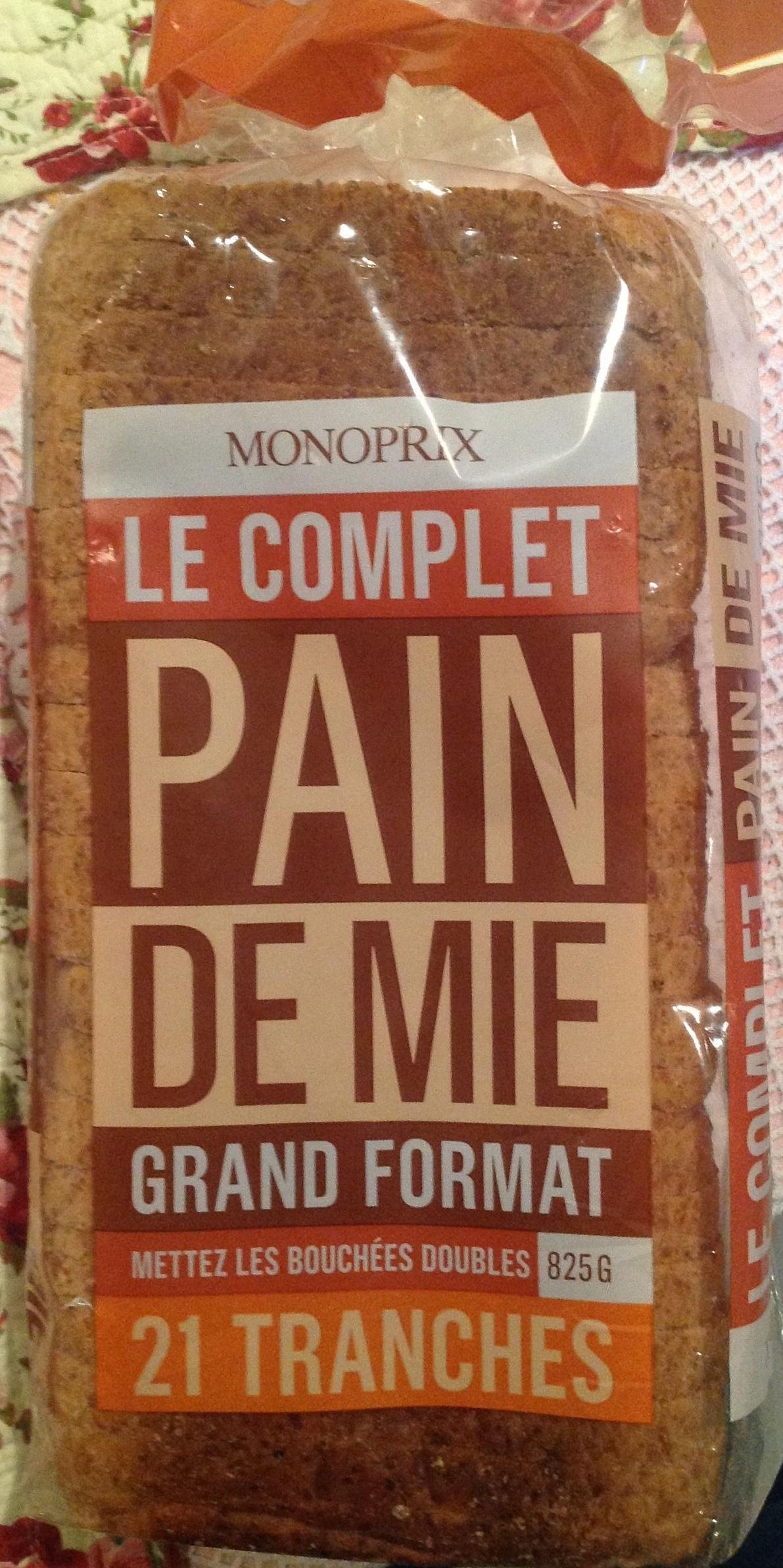 Pain de mie complet grand format - Produit - fr
