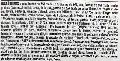 Le Club Oeuf Jambon Bacon - Ingrédients - fr