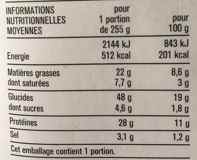 Le Club Oeuf Jambon Bacon - Informations nutritionnelles - fr