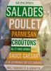 Salade Poulet, Parmesan, Croûtons, Ail et Fines Herbes, Sauce Caesar - Product