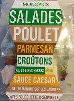 Salade Poulet, Parmesan, Croûtons, Ail et Fines Herbes, Sauce Caesar - Product - fr