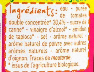 Ketchup Bio - Ingrediënten
