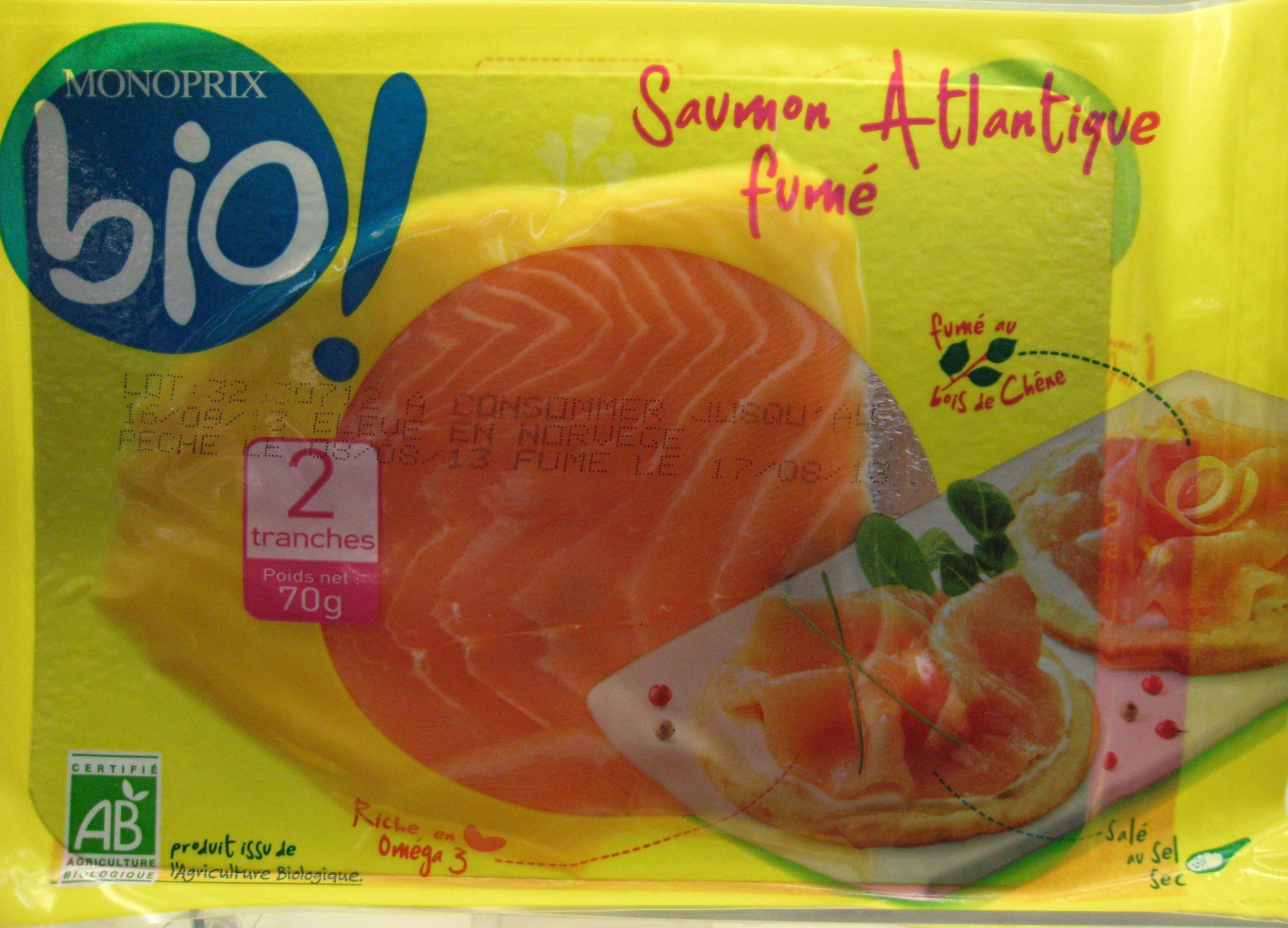 Saumon Atlantique fumé Bio - Produit - fr