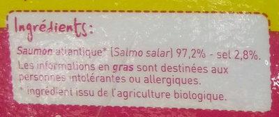 Saumon Atlantique fumé Bio - Ingrediënten - fr