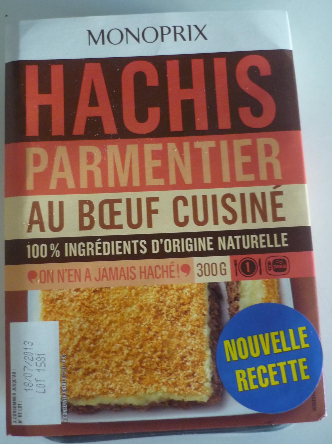 Hachis parmentier au bœuf cuisiné - Produit - fr