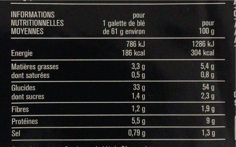Wrap - Valori nutrizionali - fr
