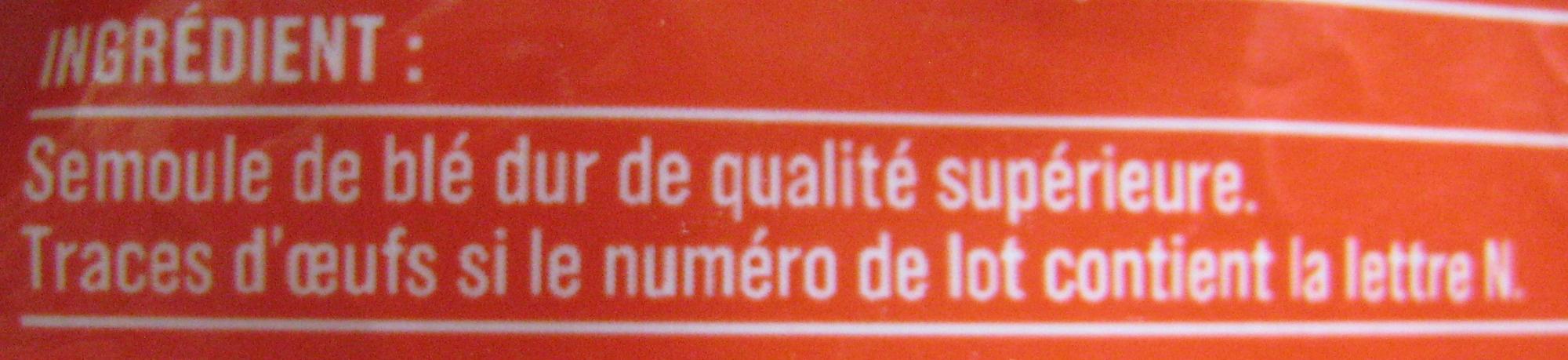 Penne Rigate (Al dente 9 min.) - Ingredients - fr