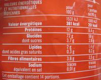 Penne Rigate (Al dente 9 min.) - Nutrition facts - fr