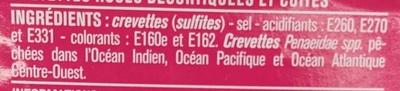 Petites crevettes roses - Ingredients