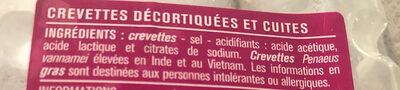 Crevettes Jumbo cuites & décortiquées - Ingredienti - fr