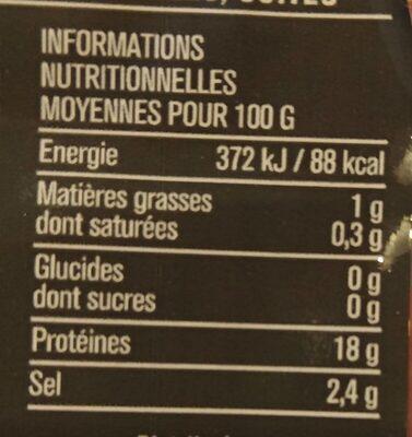 Crevettes Jumbo cuites & décortiquées - Valori nutrizionali - fr