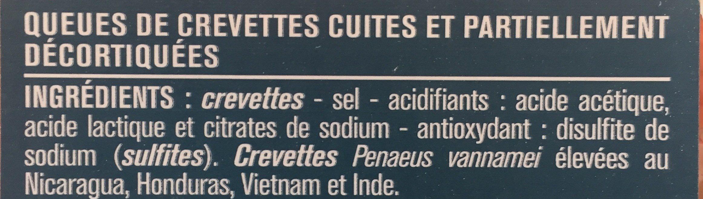 Queue de crevettes cocktail - Ingredienti - fr