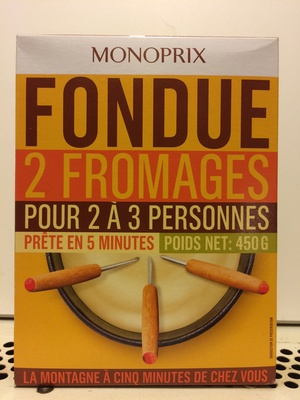 Fondue 2 Fromages - Product - fr