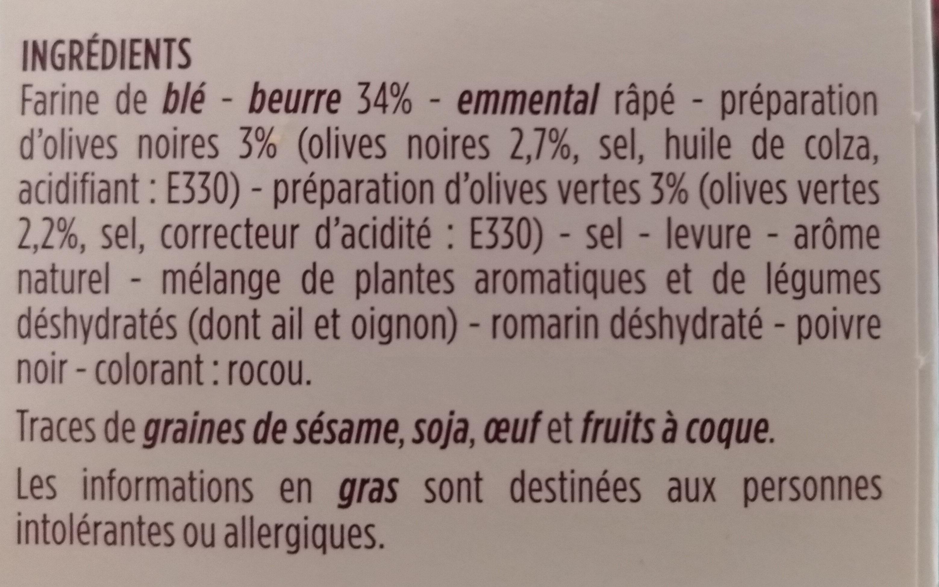 Mini palmiers apéritifs - Olives noires et vertes - Ingredients