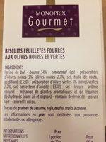 Mini Palmiers - Ingredients