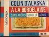 Colin d'Alaska à la Bordelaise sans arêtes, Surgelé - Produit