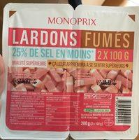 Lardons fumés, 25% de sel en moins qualité supérieure - Product