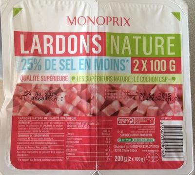 Lardons Nature (25 % de sel en moins) - Product