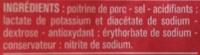 Lardons Nature (25 % de sel en moins) - Ingrediënten