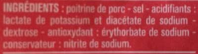 Lardons Nature (25 % de sel en moins) - Ingredients
