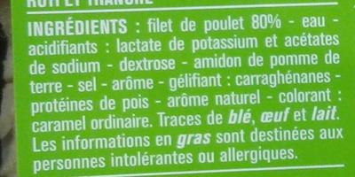 Cubes de filet de poulet rôti nature - Ingrediënten - fr