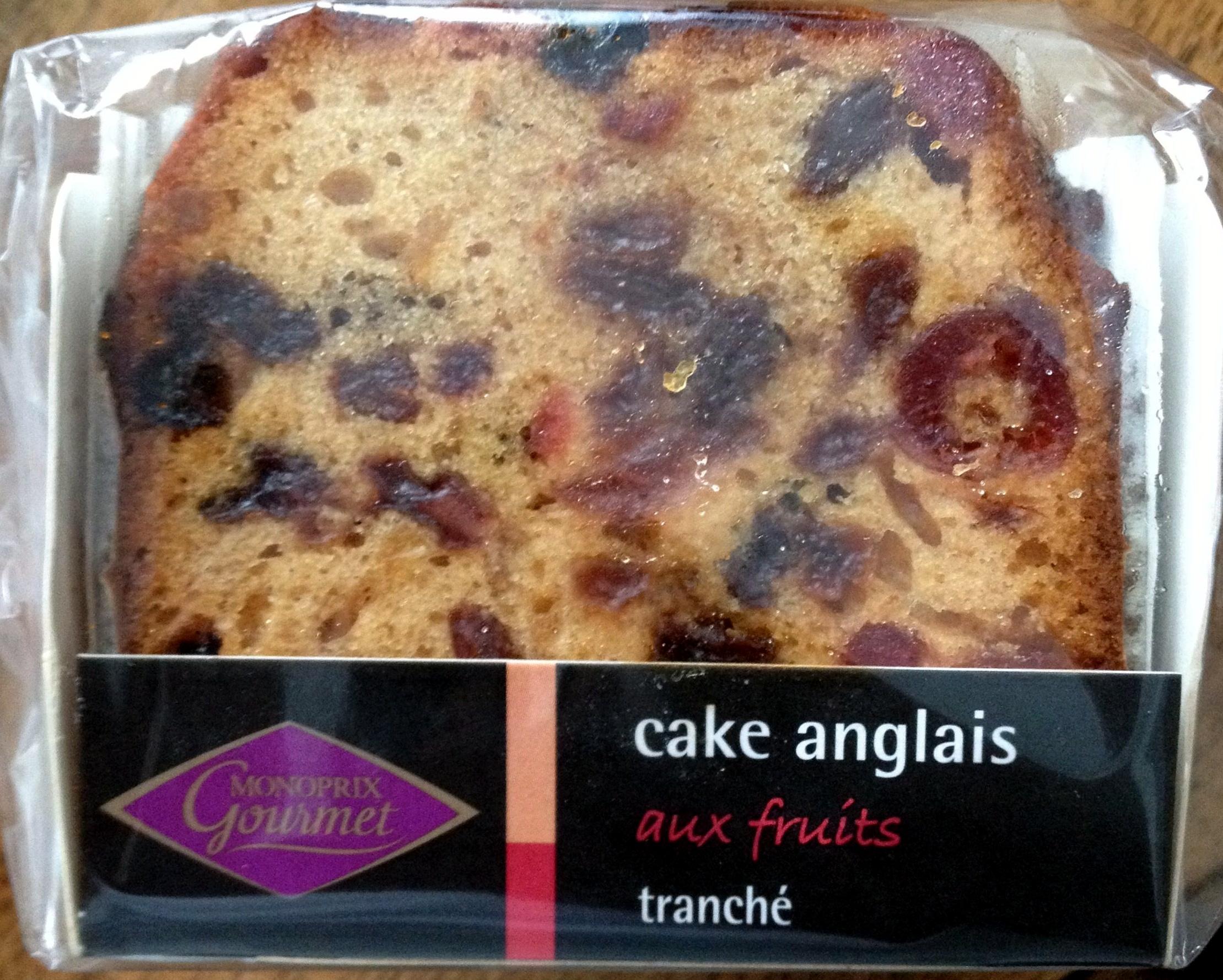 Cake anglais aux fruits tranché - Product