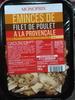 Emincés de filet de poulet à la provençale - Product