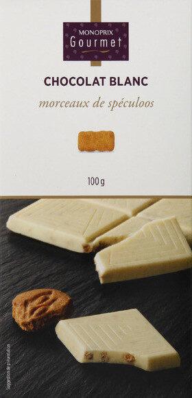 Chocolat blanc morceaux de speculoos - 产品 - fr