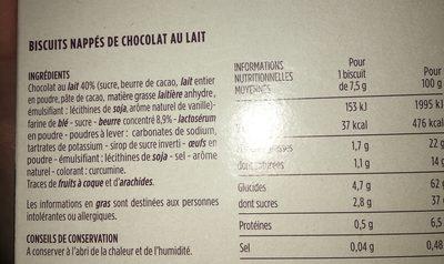 Bâtonnets sablés chocolat au lait - 4