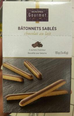 Bâtonnets sablés chocolat au lait - Product