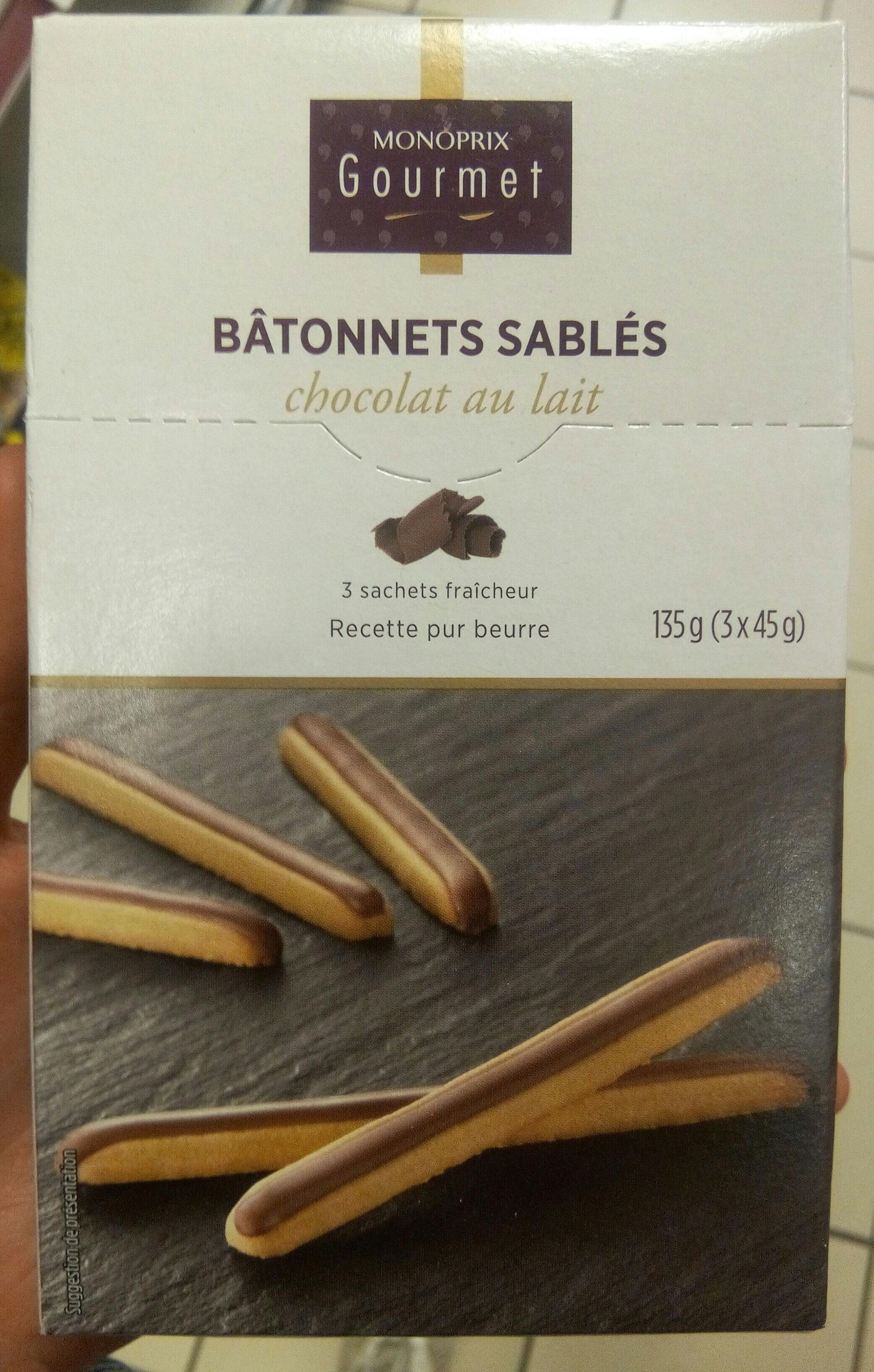 Bâtonnets sablés chocolat au lait - Product - fr