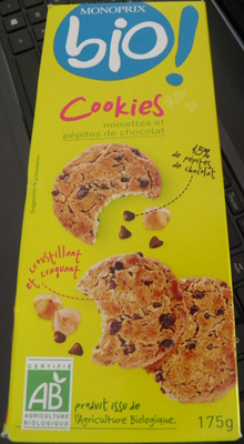 Cookies noisettes et pépites de chocolat - Product