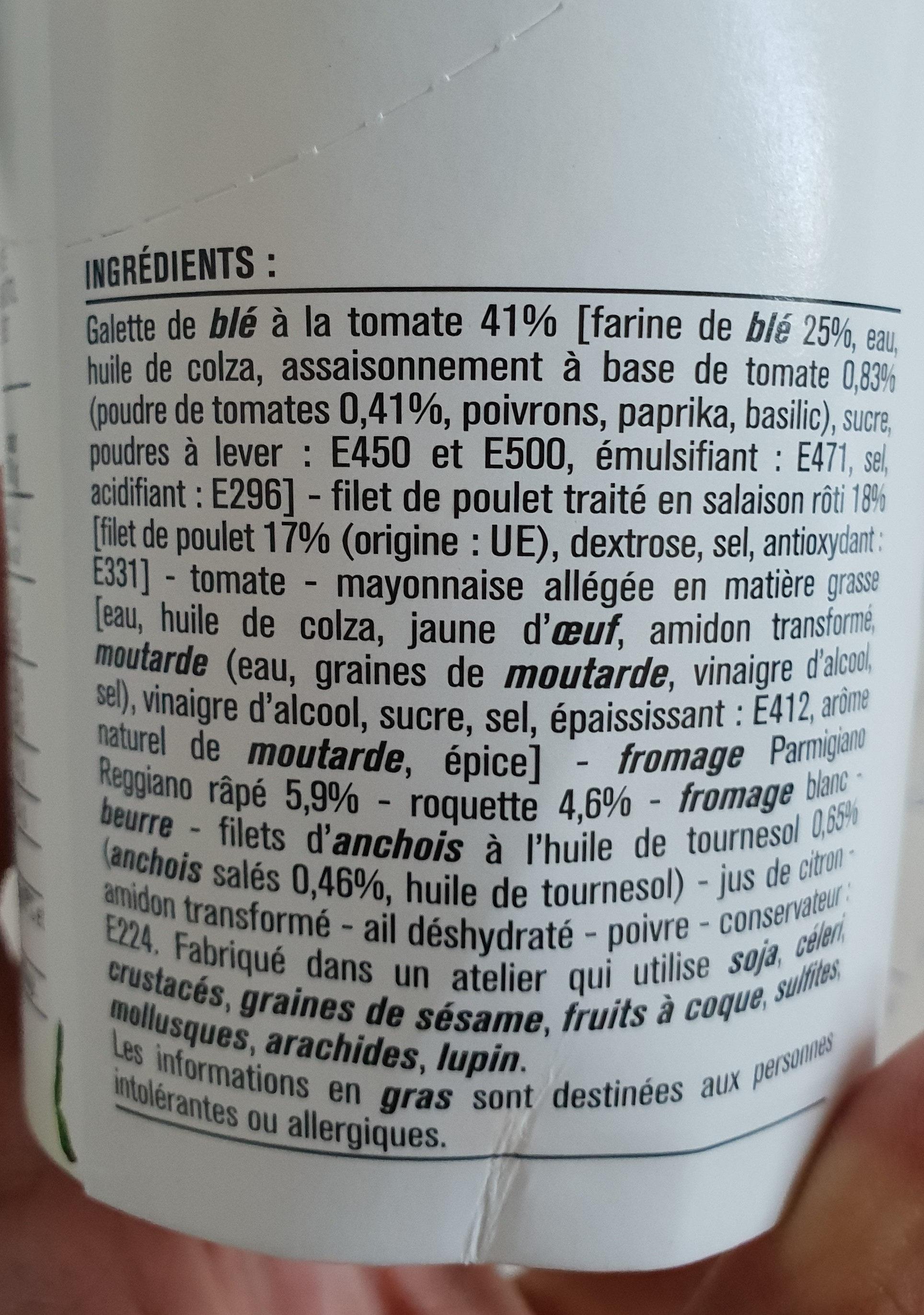 Wrap Poulet Sauce Caesar - Ingrédients - fr