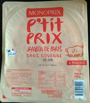 Jambon de Paris - Producto