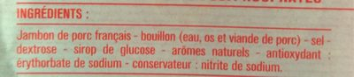 Jambon de Paris - Ingredientes