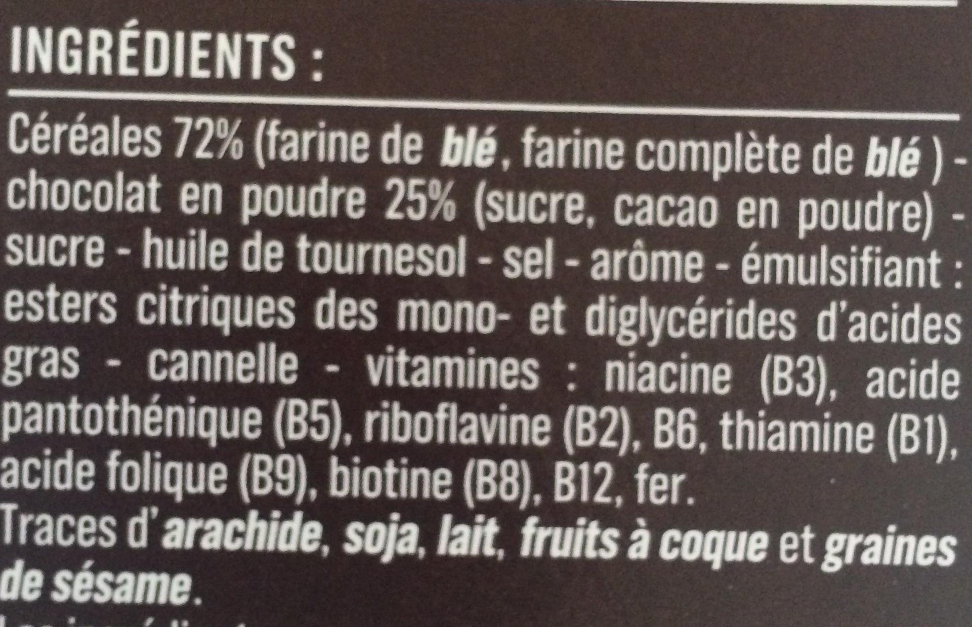 Pétales de blé au chocolat - Ingredients