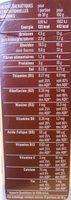 Céréales fourrées lait - Información nutricional