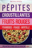 Pépites croustillantes framboise - fraise - myrtille Monoprix - Produit