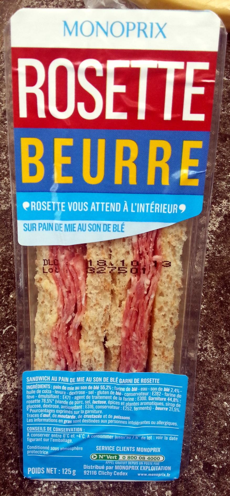 Rosette Beurre - Produit - fr