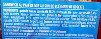 Rosette Beurre - Ingrédients - fr