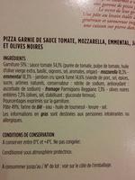 Pizza au speck et mozzarella - Ingrédients - fr