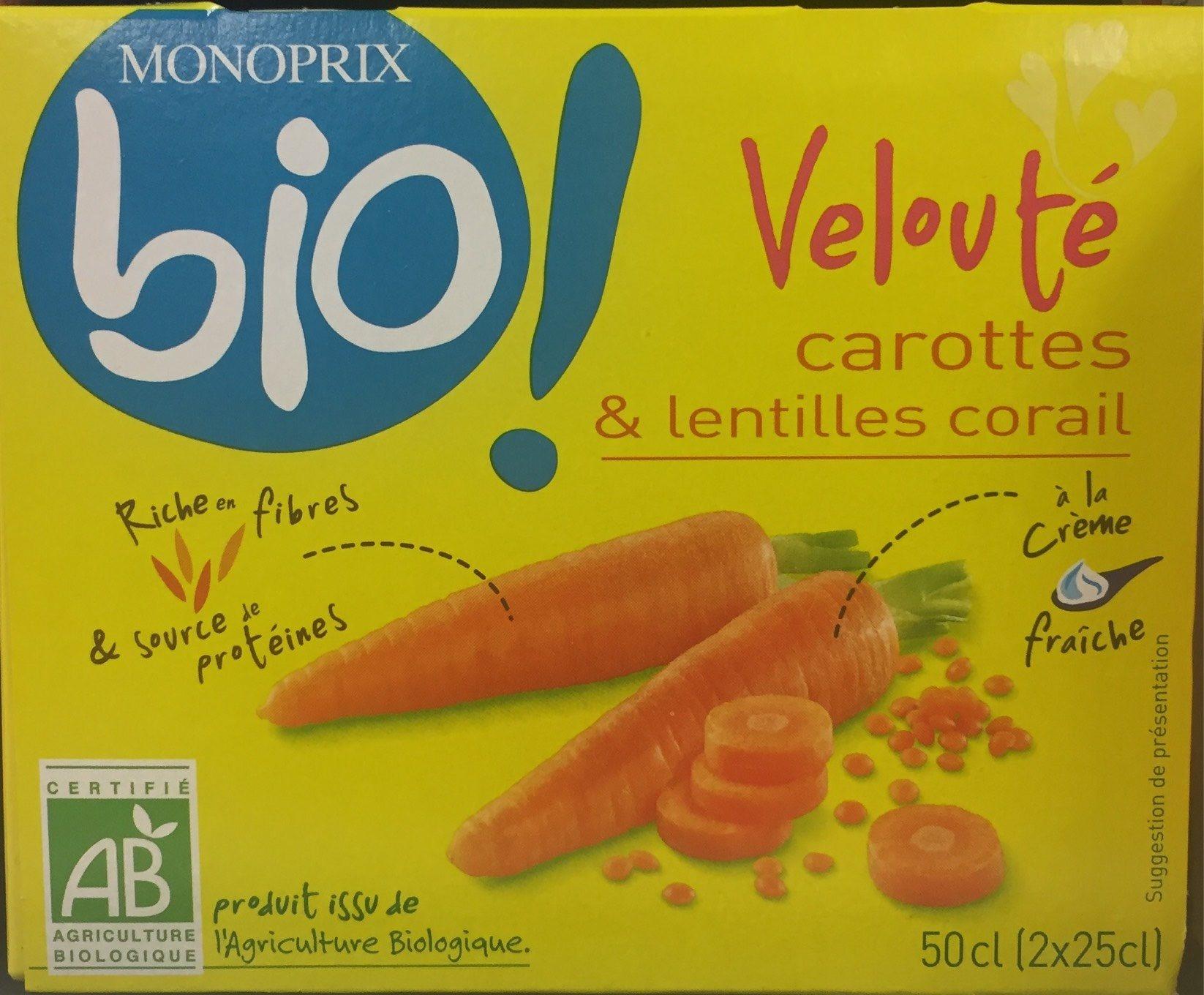 Velouté de carottes et lentilles corail à la crème fraiche - Product