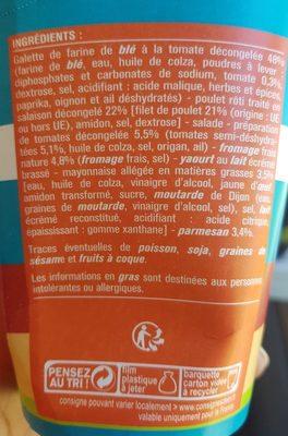 Wrap Poulet Caesar - Ingrédients - fr